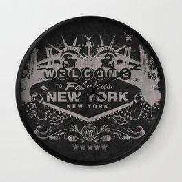 Sin City (Black) Wall Clock