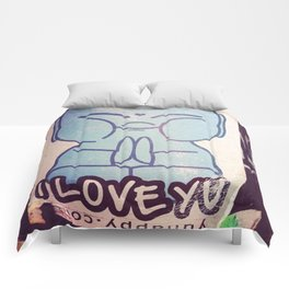 I LOVE YOU Buddha Comforters