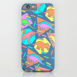 Nineties Dinosaur Pattern iPhone Case