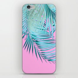 Palm Leaves Pink Blue Vibes #1 #tropical #decor #art #society6 iPhone Skin