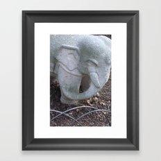 Cement Tusker Framed Art Print