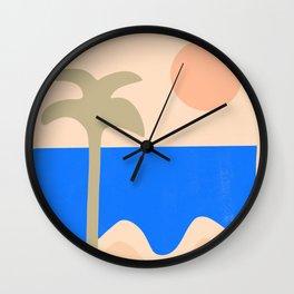 abstract paradise 4 Wall Clock