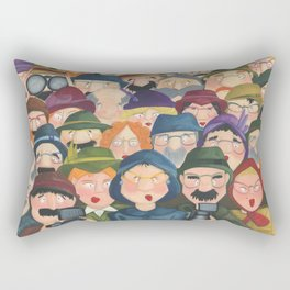 I can see you - Illustration of people watching you. Rectangular Pillow