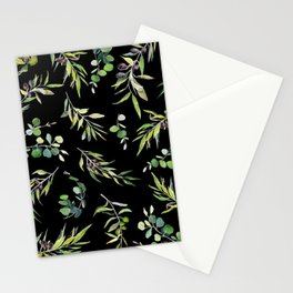 Eucalyptus and Olive Pattern  Stationery Cards