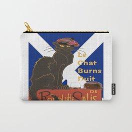 Le Chat Burns Nuit Haggis Dram Scottish Saltire Carry-All Pouch