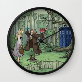 Visions are Seldom all They Seem Wall Clock