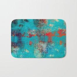 Aztec Turquoise Stone Abstract Texture Design Art Badematte