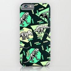 90's Dinosaur Skeleton Neon Pattern iPhone 6 Slim Case