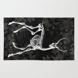 Prancing Deer Skeleton Rug