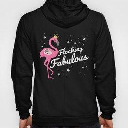 Flocking Fabulous Funny Flamingo  Hoody
