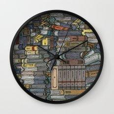 Closed Books Wall Clock