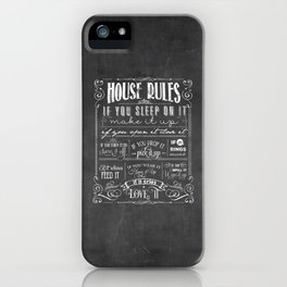 House Rules Retro Chalkboard iPhone Case