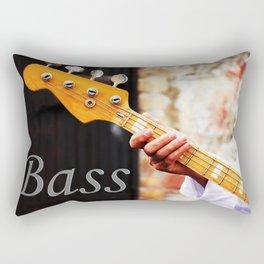 Bass Guitar neck , musical instrument  Rectangular Pillow