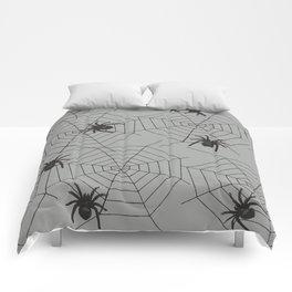 Hallween Spider web Comforters