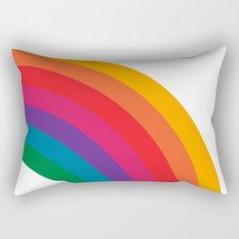 Retro Bright Rainbow - Right Side Rectangular Pillow