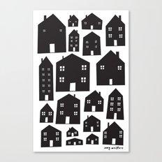 Scandi Houses Canvas Print