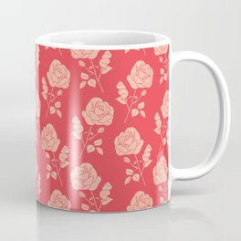 Romantic Pink on Red Roses Coffee Mug
