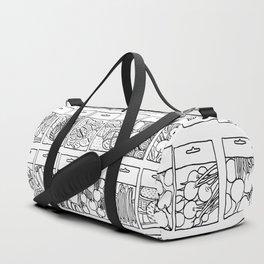 Veggie Seeds Patten - Line Art Duffle Bag