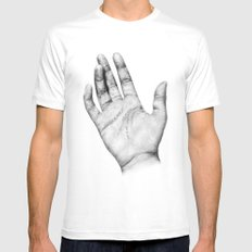 Touch MEDIUM White Mens Fitted Tee