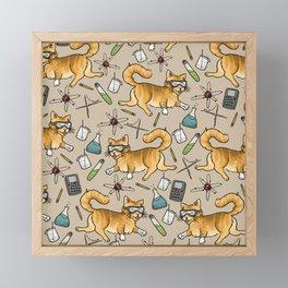 STEM Cats Framed Mini Art Print