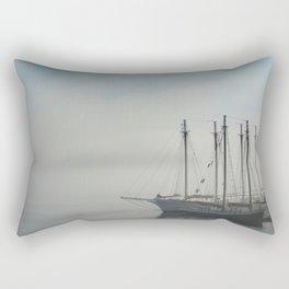 Sailing in Fog Rectangular Pillow