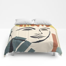 Abstract Face III Comforters