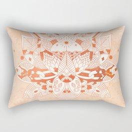 Happiness Mandala Metallic Rose Gold Beige Rectangular Pillow
