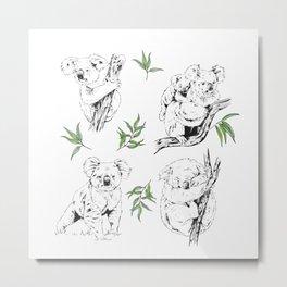 Koala Print Metal Print