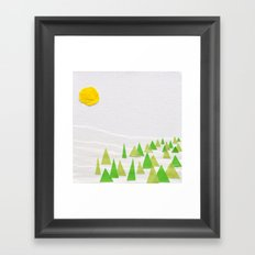 Evergreen Trees Framed Art Print