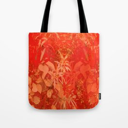 Beautiful red foliages - illustration of garden Tote Bag