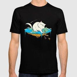 Flat Earth Cat T-shirt