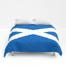 National flag of Scotland - Authentic version to scale and color Comforters