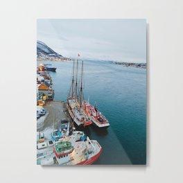 Edge of the World in Tromso Metal Print