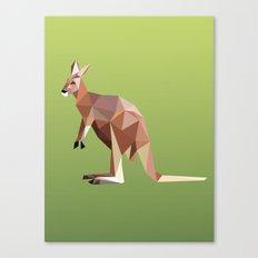 Geometric Kangaroo Canvas Print