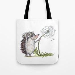 Hedgehog & Dandelion Tote Bag