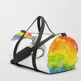 T-Rex Dinosaur Vomits Rainbow Sporttaschen