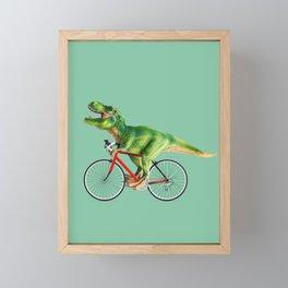T-REX BIKE Framed Mini Art Print