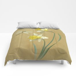 Daffodil and Dragonfly Comforters