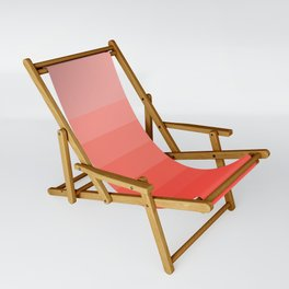 Living Coral Light to Bright Gradient Sling Chair