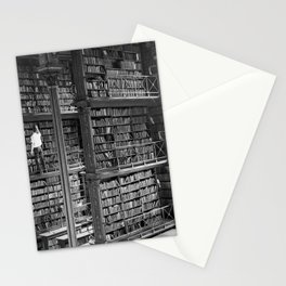 A book lovers dream - Cast-iron Book Alcoves Cincinnati Library black and white photography Stationery Cards