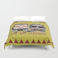 big lebowski Duvet Covers featuring The Big Lebowski by Francesco Dibattista
