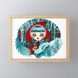 Red of the Woods Framed Mini Art Print