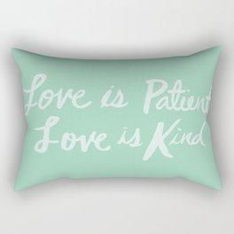 Love is Patient Love is Kind x Mint Rectangular Pillow
