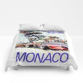 Gran Prix de Monaco, 1971, original vintage poster Comforters