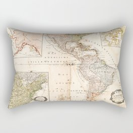 North and South America Map (1795) Rectangular Pillow