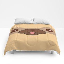 Kawaii Cute Pug Comforters