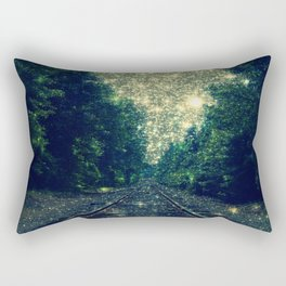 Dreamy Train Tracks Rectangular Pillow