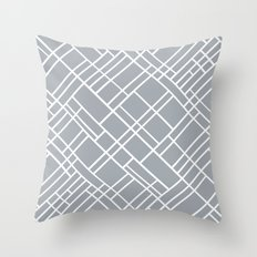 Map Outline Grey 45 Throw Pillow