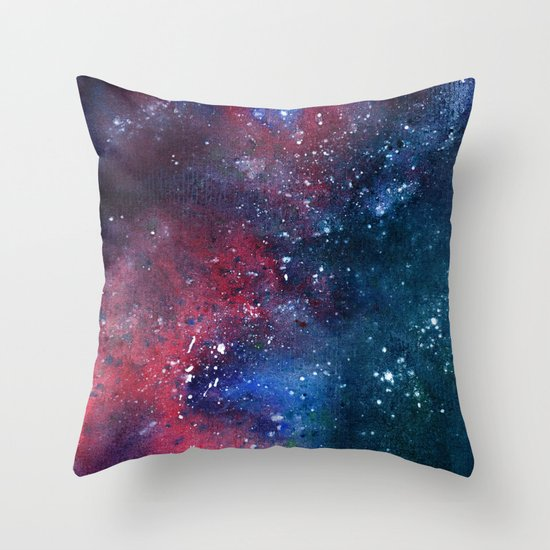 In the blues Throw Pillow