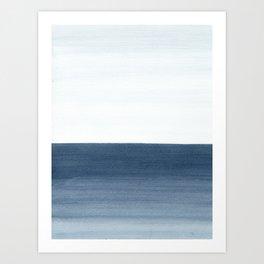 Ocean Watercolor Painting No.1 Art Print